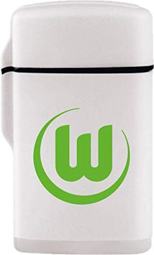 VfL Wolfsburg Feuerzeug Rubber Laser Weiss