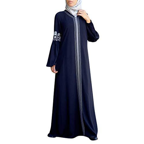 Muslimische Kleider Damen Lang,Frauen Muslimischen Kleid Kaftan Arab Jilbab Abaya Islamischen Spitzennähen Maxikleider Mittelalter Kleid Muslim Arab Kleid Gebet Kleid