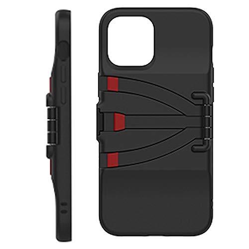 JOBY Standpoint Carcasa para iPhone 12 Pro MAX, Funda con Patas de Aluminio Tipo Trípode Incorporadas, Trípode de Viaje para Cámara, Funda para Smartphone, Ideal para Selfies, Vlogging, Directo