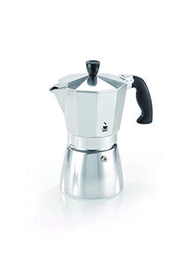 Gefu Espressokocher Lucino, Espresso-Kanne für 3 Tassen, Aluminium / Kunststoff, 16070