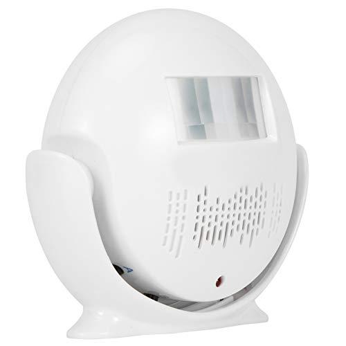 Seguridad para el hogar inalámbrica Alarma de entrada, alerta de detección de sensor de movimiento, timbre de entrada de puerta de tienda, sensor de infrarrojos infrarrojos, aviso de voz, timbre de pu