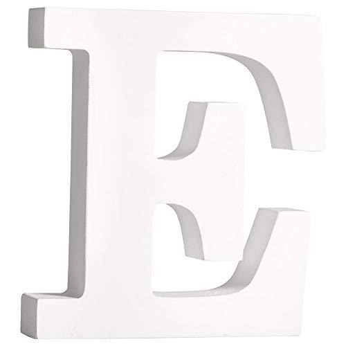Rayher 62656000 MDF- Buchstabe E , weiß, 11cm, Stärke 2cm