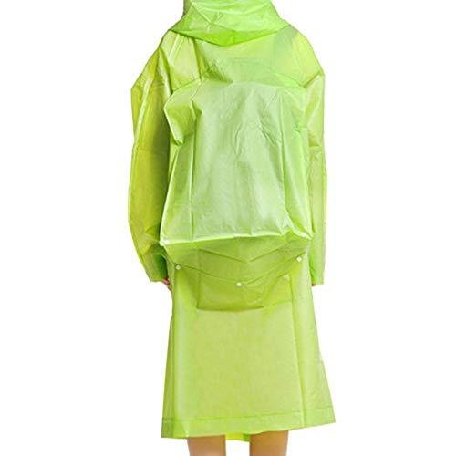 Aurely Regenjas, winddicht, voor mannen en vrouwen, regenbescherming, isolatiejurk, regenjas, poncho's geaccepteerd groen