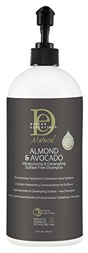 Design Essentials Almond & Avocado Moisturizing & Detangling Sulfate-Free Shampoo for All Hair Textures, 32 Fl Oz