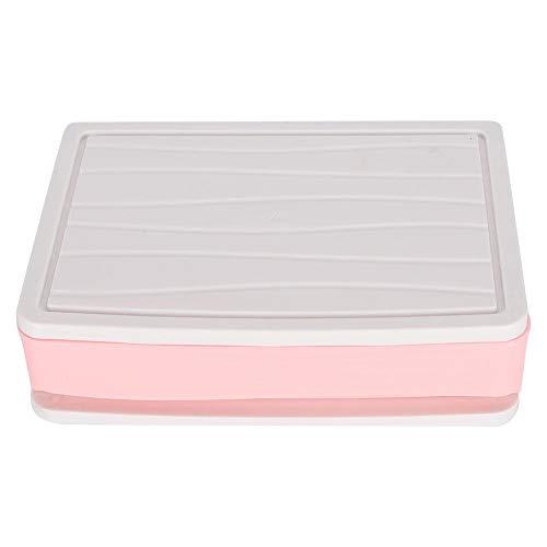 Presente románticoSoporte cosmético Caja, Caja de cosméticos, material de PP de alta calidad, ecológico con asa, soporte para cosméticos, estilo de cajón simple para disfraces de regalo de(Small p
