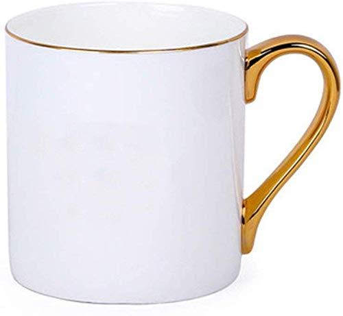GJJSZ Keramik Kaffeetasse Gericht Keramik Milch Tee Tasse Roter Tee Tasse Milch Tasse Phnom Penh Bone China Teekanne Kaffeetasse Kreative Geburtstagsgeschenk(Farbe: Weiß,Größe: 300 ml)
