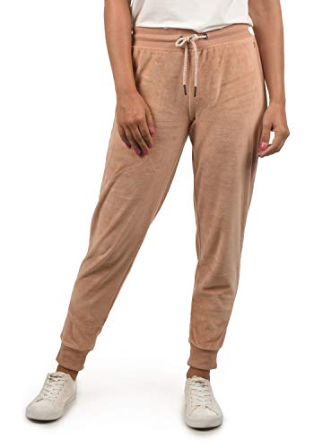 DESIRES Nikita Damen Sweathose Velours-Sweatpants Relaxhose Regular- Fit, Größe:M, Farbe:Mahog. Rose (4203)