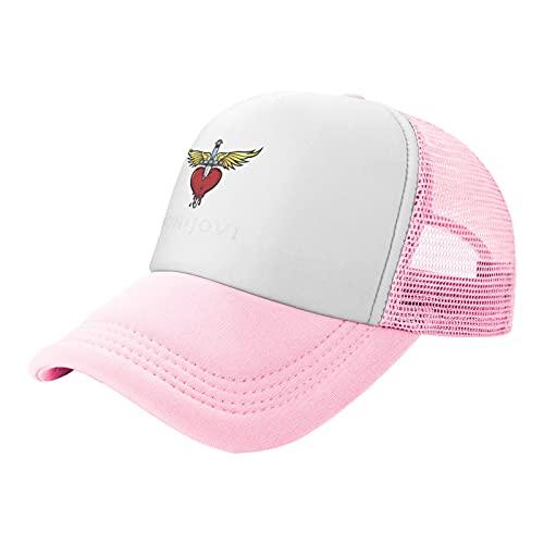 P&P Sombrero de malla infantil Okpk Bon Jovi Greatest Hits Trucker Sombreros