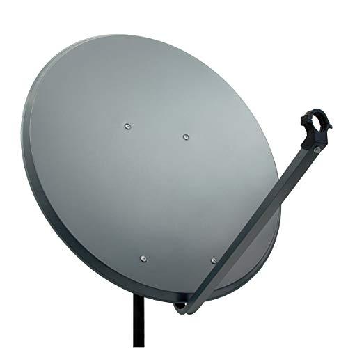 PremiumX PXA100 Satellitenschüssel 100cm ALU Anthrazit Satellitenantenne SAT Spiegel mit LNB Tragarm und Masthalterung