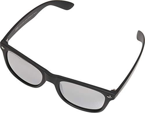 Urban Classics Unisex Sunglasses Likoma Mirror UC Sonnenbrille, black/silver, one size
