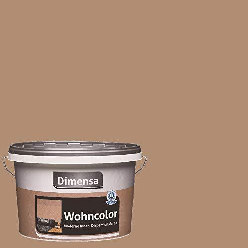 Dimensa Wohncolor bunte Wandfarbe tiramisu hell-braun 2,5 Liter