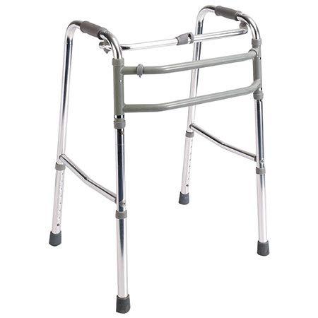 Andador para ancianos sin ruedas | Aluminio ultraligero | Regulable en altura| Plegable | Asistencia de movilidad | Peso máximo soportado 100 kg | Modelo Mezquita | Mobiclinic
