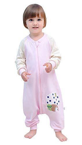 Happy Cherry Gigoteuse en coton pour bébé nouveau-né avec motif mignon deux ouvertures Sac de couchage pour enfant d'été printemps avec pieds