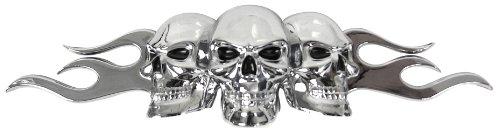 Custom Accessories 98076 Flaming Skull Emblem