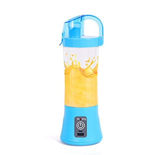 Blender Portatile, Bottiglia di frullatore Personale Mini frullatore frullatore 2 potenti Lame, Bottiglia Ricaricabile da USB Tazza di USB per Viaggi BPA Gratis