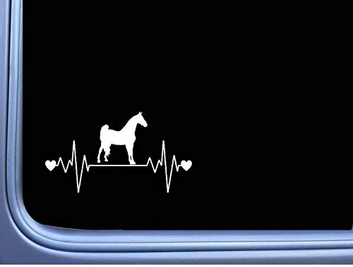 DKISEE Sticker Morgan Lifeline Sticker Paard Rescue Heartbeat Window Decal Laptop Vinyl Decal Venster Muursticker Auto Sticker 8 inch Onecolor