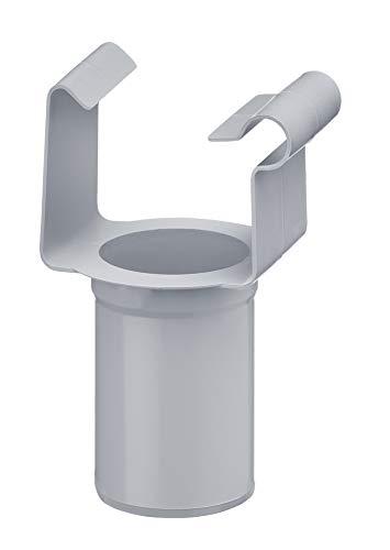 INEFA Ablaufstutzen, kastenförmig Grau DN 50 / NW 68 - aus Kunststoff, Einhängestutzen, Rinne, Fallrohr, Dachrinne, Regenrohr, Regenfallrohr, Kunststoffrinne
