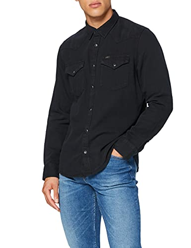 Lee Western Shirt Chemise, Noir (Black 01), Small Homme