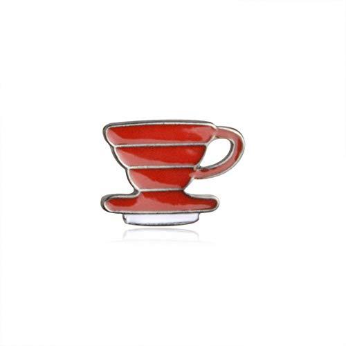JTXZD broche Delie Koffie Serie Badges Vorm Hand-Punch Pot Koffie En filter Beker Chemex Broche Mode