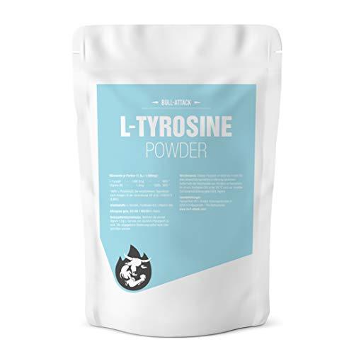 L - TYROSIN PULVER | 500g Pulver | L-Tyrosine + Vitamin B6 | Muskelaufbau + Gehirnleistung | Top Qualität (500g)