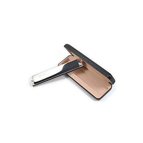 QJBH Harmonica, Beginner Adult Self-study Entry Professionele Muziekinstrument, Pure Tone 24-holes Chord Professionele Harmonica (zilver, 18 * 2,9 * 1,9cm) G tone