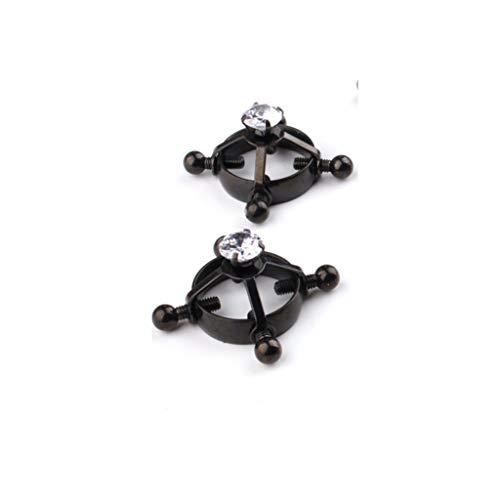WRZHL Faux Diamond Breas't Clips Liefhebbers Alternatieve S-M Gereedschap Verstelbare Metalen Rotatie Schroefklemmen T-Shirt Portemonnee Zonnebril