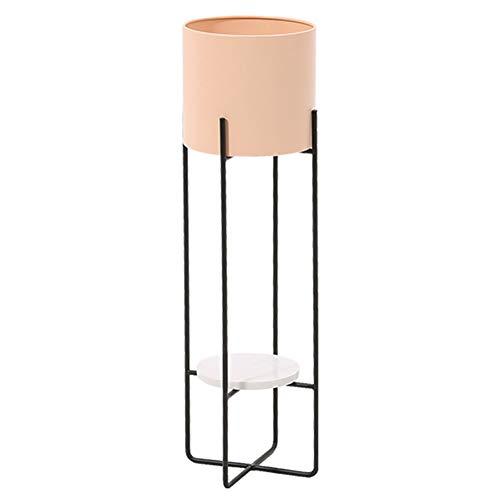 LXLA Stand 2 Tier Pflanze Blumentopf - Modern, Metall, Pflanze Anzeigen-Regal mit Marmorschale, Ideal for Wohnzimmer/Balkon/Schlafzimmer (Color : Pink, Size : 71cm×22cm)