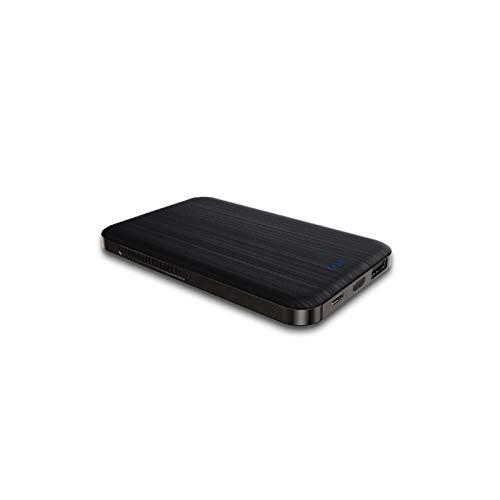 MYXE Aleación de Aluminio de Aluminio de Cargador inalámbrico portátil 4000mAh Banco de energía para iPhone 12 Batería Externa PowerBank portátil para Xiaomi Samsung (Color : Black)