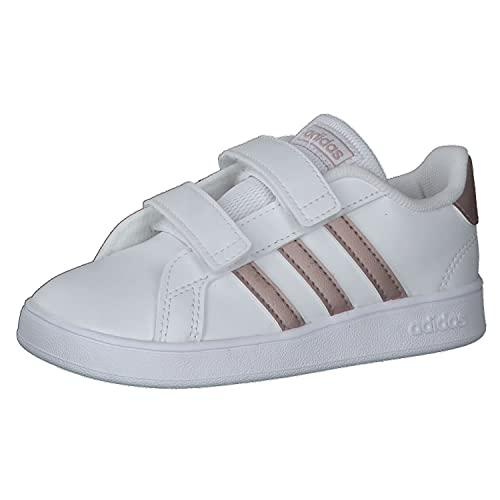 adidas Grand Court I, Sneaker, Multicolour Ftwwht Coppmt Glopnk 000, 27 EU