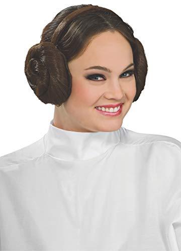Rubies 3 8230 - Star Wars kapsel haarband prinses Leia Kostuum accessoires bruin