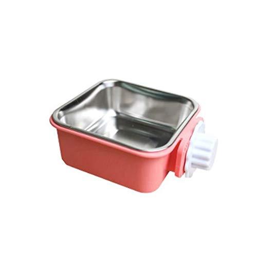 Giocattoli del gatto distributore di acqua gatto Pet ciotola in acciaio inox Materiale dell'alimentatore dell'acqua dell'alimento alimentazione Hanging gabbia quadrata Bocce forniture cane gatto gabbi