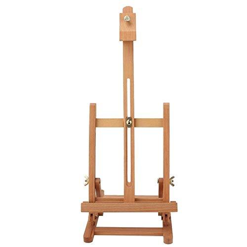 Caballete pequeño de madera ajustable con marco en H, soporte de exhibición de artista de estudio, tablero de dibujo, pinturas de exhibición, soporte de escritorio de mesa resistente portátil