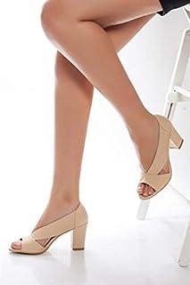 TARÇIN Hakiki Deri Klasik Günlük Kadın Topuklu Ayakkabı TRC71-0072