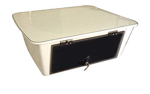 Dolphin T-Top Overhead Marine Electronics E Box ✮ Fishing Boat Tower Center Console Ebox ✮ Fiberglass ✮ Locking Smoked Glass ✮ Safe Stereo Radio Head Unit Storage ✮ Water Resistant ✮ 25'x23'x10'