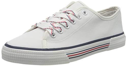 TOM TAILOR Damen 8095305 Sneaker, Weiß (White 00002), 38 EU
