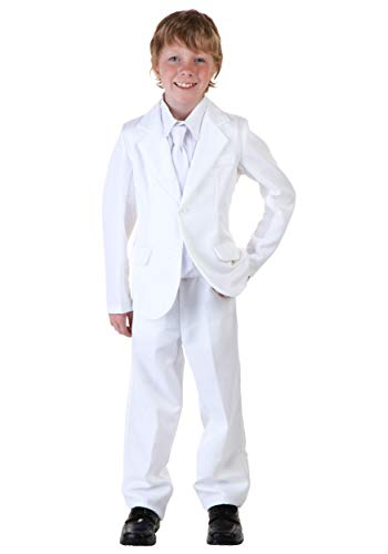 Child White Suit Costume Large