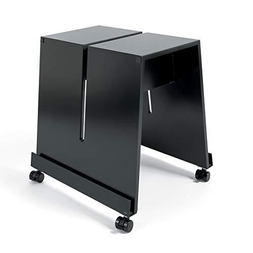SIGEL MU050 Soporte meet up, para la utilización con las pizarras de SIGEL, fácil de trasladar, ruedas con sistema de frenos, material DM lacado y perfil de aluminio, color negro, 52 x 46 x 55 cm, 1 u