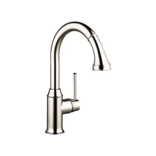 hansgrohe Talis C Premium Kitchen Faucet 1-Handle 15-inch Tall Pull Down Sprayer Magnetic Docking...