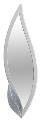 Pintdecor Petalo Specchiera, MDF, Bianco, 180x60x3 cm, Made in Italy