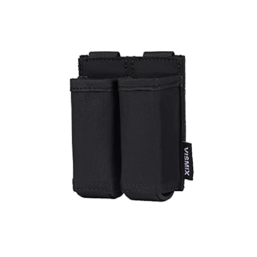 VISMIX Pistol Magazine Pouch, Double 9mm Mag Pouch with Quick Release Kydex Insert and MOLLE Compatible