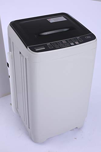 Washing Machine Nictemaw Portable Washer 1.70 Cu.ft/15.6Lbs Capacity Full-Automatic Laundry Washer Spin Dryer, 10 programs Selections with LED Display Ideal for Home/Apartments/Dorms/RV