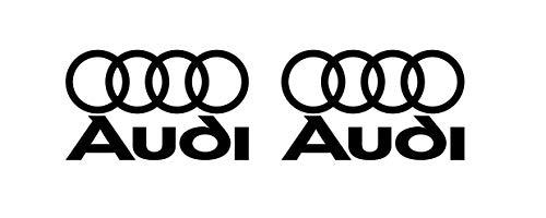Auto Aufkleber kompatibel mit Audi Auto Heckscheibe Tuning / Plus Schlüsselringanhänger aus Kokosnuss-Schale / Racing Tuning Hoonigan A1 A3 A5 A6 TT Q3 Q5 Quattro S Line (6 Aufkleber 5x3cm)