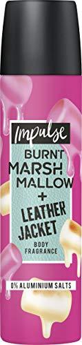 Impulse Deospray Burnt Marshmallow & läderjacka, för ett färskskydd på 24 timmar utan aluminium, 1-pack (1 x 75 ml)