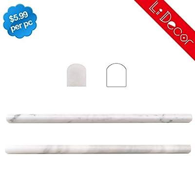 Carrara White Marble Pencil Liner