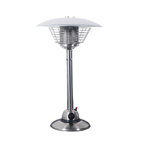 REWD Patio Heaters Outdoor Gas Tabletop Gas Patio Heater Portable Outdoor Stainless Steel Home Burner, Propane or Butane Gas Bottle Heatering for Gazebo, Garden, Camping