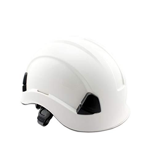 Fahrradhelm ABS Arbeits Versicherung Baustelle Bau Schutzhelm Außenlüftungs Climbing Klettern Helm Anti-Kollisions-Isolierung Cap Verstellbare Komfortabler ( Color : White , Size : Free size )
