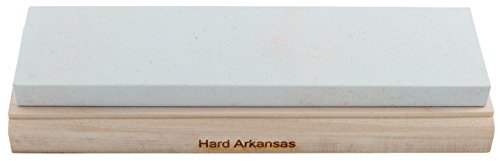 RH PREYDA Hard Arkansas - Piedra de afilar (grano 800-1000, 200 x 50 x 12 mm, plataforma de madera)