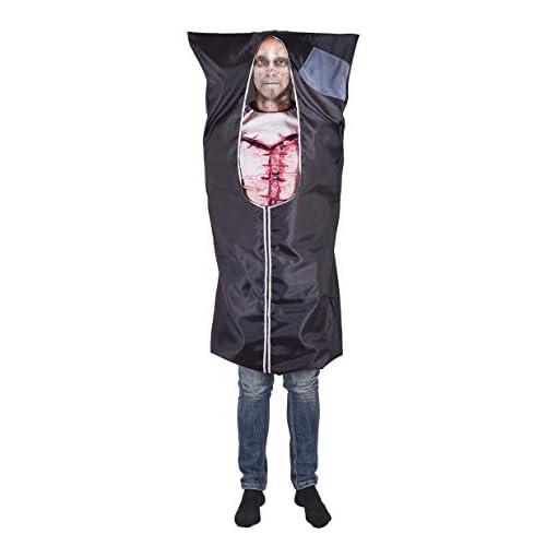 Ciao-Costume Halloween Busta cadavere, taglia unica Adulti, Nero, 16487