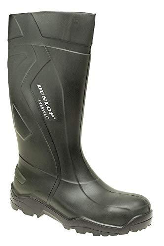 Dunlop Purofort+Voll Sicherheit Wellies Sicherheit Zehen Kappe & Stahl Midsole. Haltbar, Licht & Warm UK Größen 4-14 - Grün, 8 UK