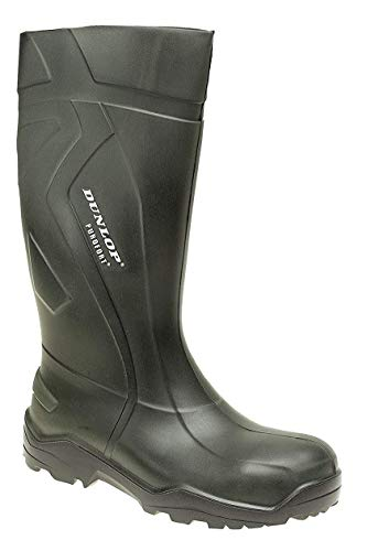 Dunlop Purofort+Voll Sicherheit Wellies Sicherheit Zehen Kappe & Stahl Midsole. Haltbar, Licht & Warm UK Größen 4-14 - Grün, 15 UK